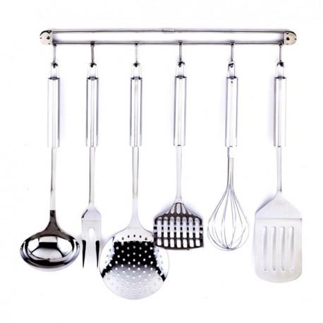 Juego de 6 herramientas de cocina y colgador kaiser for Herramientas cocina