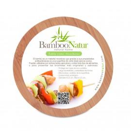 Tabla circular perforada Bamboo Natur