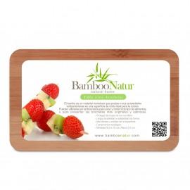 Tabla rectangular perforada Bamboo Natur