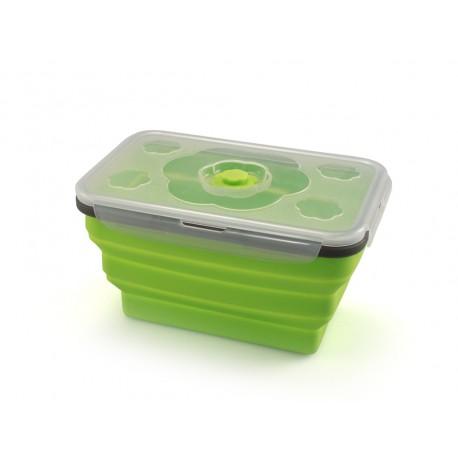 Tupper rectangular plegable de silicona