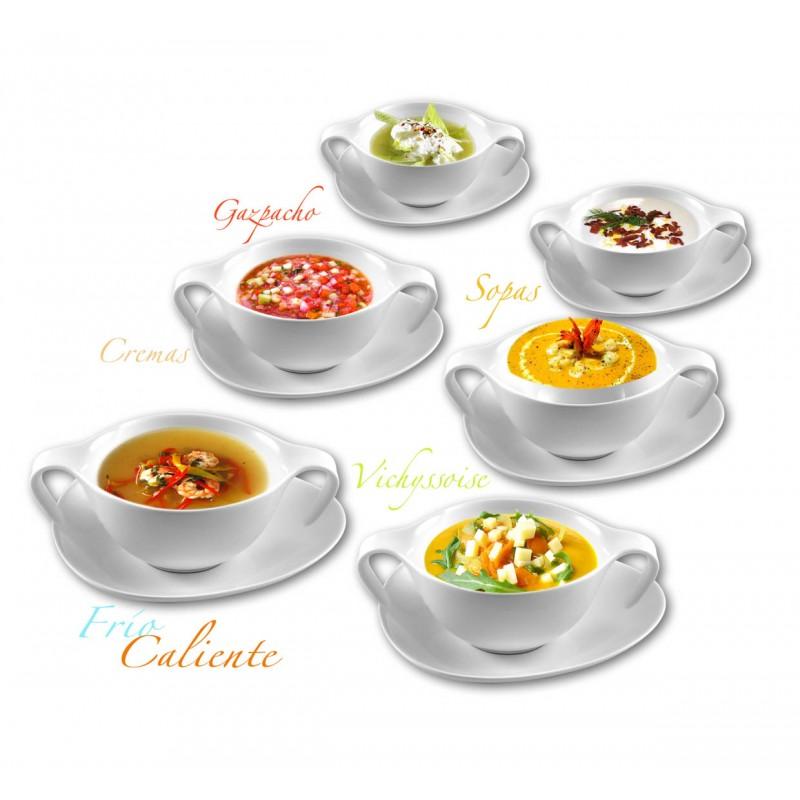 Set de consom de porcelana 12 piezas for Cuchara para consome